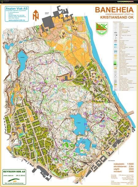 kart baneheia kristiansand Fellesstart baneheia   December 15th 2013   Orienteering Map from  kart baneheia kristiansand