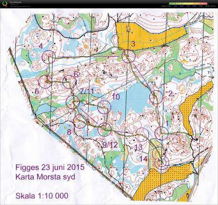 Figges Gp June 23rd 2015 Orienteering Map From Simon Schuster