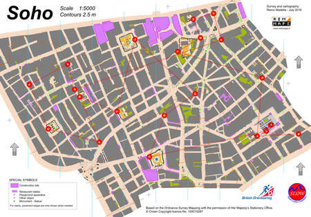 Map Soho London.Soho Urban Sprint September 11th 2016 Orienteering Map From