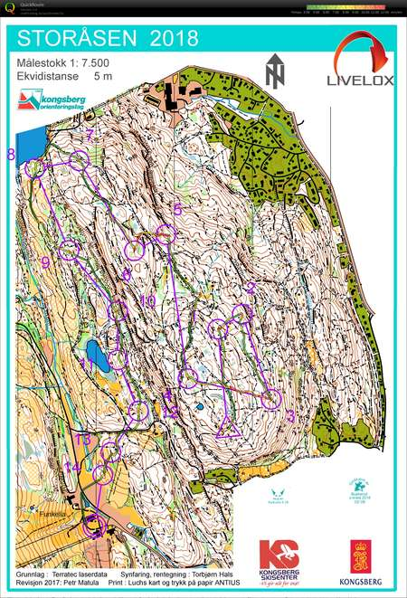 Nc Mellom I Kongsberg May 21st 2018 Orienteering Map From