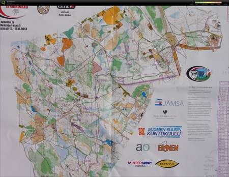 JmsJukola June 16th 2013 Orienteering Map from Reima Liikkanen