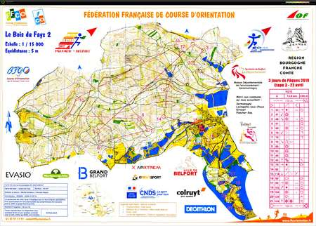 3 Jours de Pâques E3 - April 22nd 2019 - Orienteering Map from