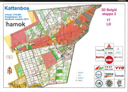 3 Jours de Belgique E2 June 4th 2017 Orienteering Map from