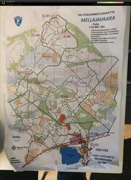 Lapin Lumirastit March 9th 2019 Orienteering Map From Mats Luspa