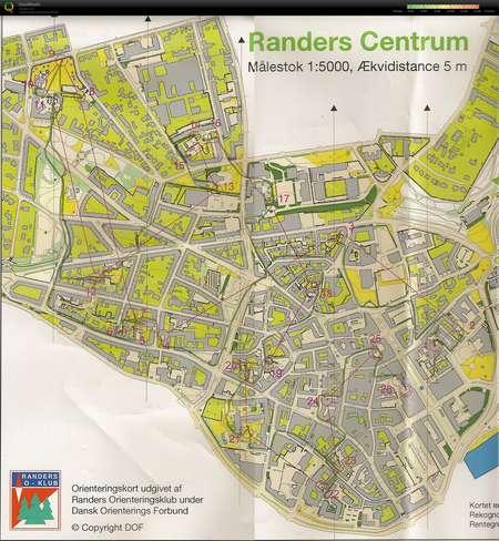 Randers By Orientering August 16th 2016 Orienteering Map From