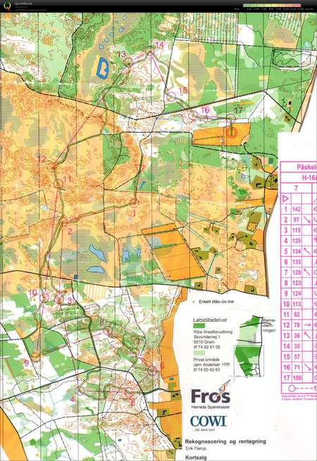 Romo Paske 2012 Et 2 April 6th 2012 Orienteering Map From