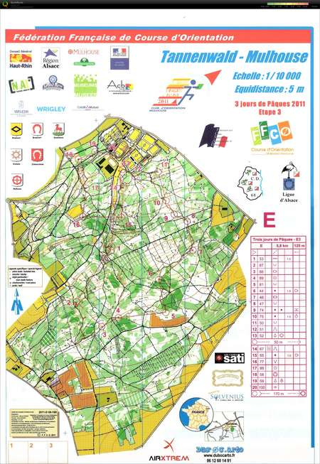 TannenwaldMulhouse Orienteering Map from Pierre Gillain