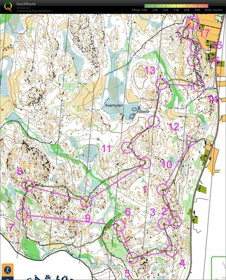 Swedish League 6 Ume May 23rd 2015 Orienteering Map from Emil
