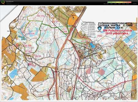 Sm Tuusula Kartta 3 3 September 26th 2010 Orienteering Map