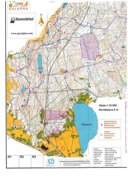 O-ringen Dalarna, E4 - July 29th 1999 - Orienteering Map