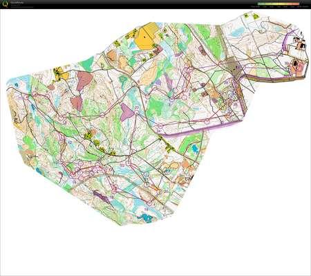 JmsJukola June 16th 2013 Orienteering Map from Anette nerud