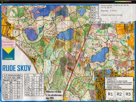 Oprykningsmatch September 25th 2016 Orienteering Map From Tage