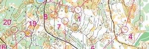 Map: 2014 European orienteering champs Portugal