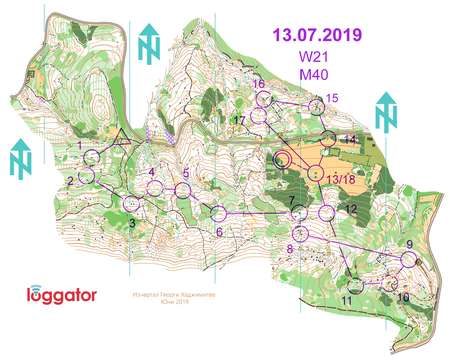 Kupa Gabrovo 2019 Zh 21e July 13th 2019 Orienteering Map From