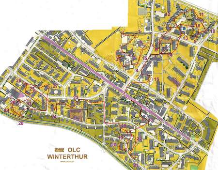 Map SMGold in Winterthur April 27th 2014 Orienteering Map from