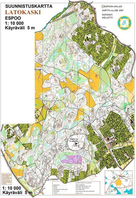 Espoorastit 27 Latokaski September 30th 2012 Orienteering Map