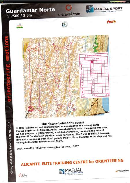 Alicante 14 March 8th 2017 Orienteering Map From Lene Berg