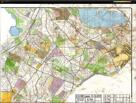 Silkeborg Vesterskov - October 31st 2010 - Orienteering Map from ...