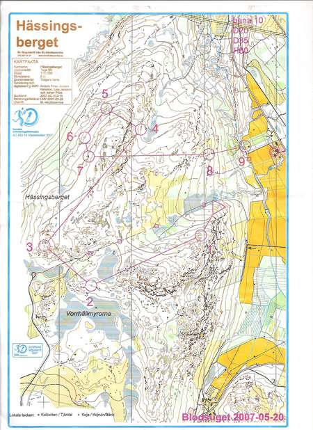 Ume SMhelg February 22nd 2010 Orienteering Map from