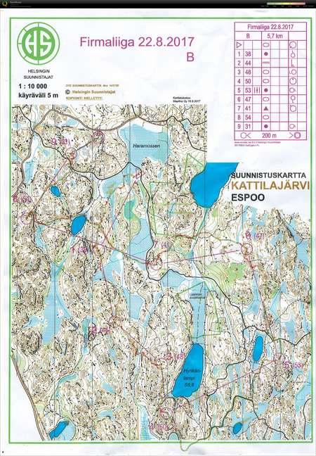 FL Kattilajärvi - August 22nd 2017 - Orienteering Map from ...