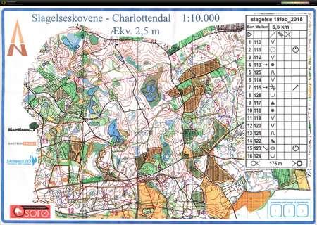 VTR 180218 February 18th 2018 Orienteering Map from Janne Brunstedt