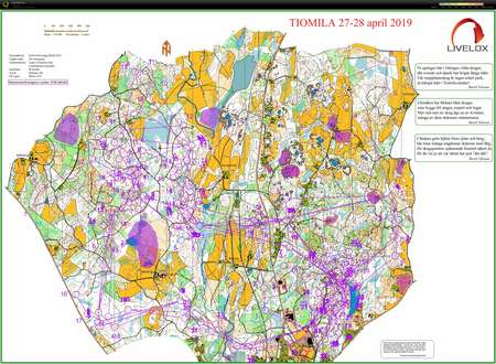 Tiomila Langa Natten April 27th 2019 Orienteering Map From