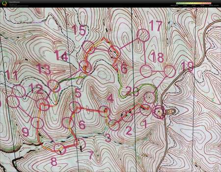 Hobbs Training day 1 March 31st 2018 Orienteering Map from Mary