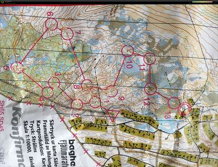 kart over malung Sälen 3+3, dag tre   July 2nd 2017   Orienteering Map from Hanna  kart over malung