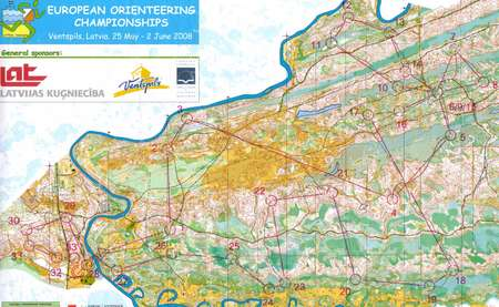 EOC Long Final Ventspils Latvia May 27th 2008 Orienteering Map
