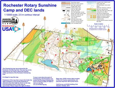 Rotary Sunshine Camp Club 6 October 24th 2010 Orienteering Map From Misc Us Events