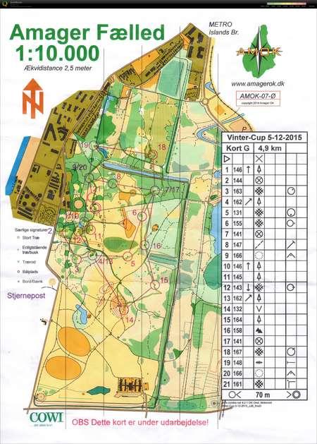 Vintercup 051215 December 5th 2015 Orienteering Map From Janne