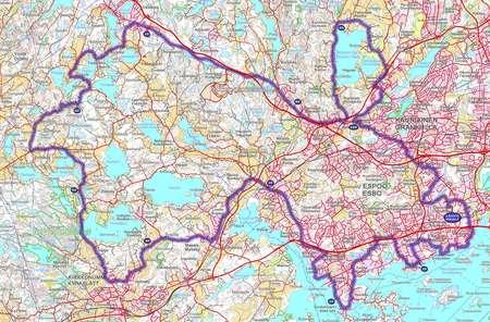 Giro De Espoo May 27th 2012 Orienteering Map From Gpsseuranta