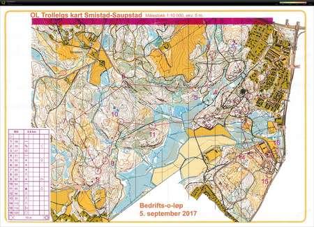 jaren kart Bedriftsløp på Saupstad   September 5th 2017   Orienteering Map  jaren kart
