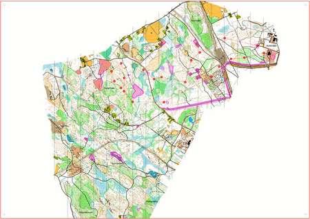 JmsJukola 2013 Jukolan Viesti June 15th 2013 Orienteering Map