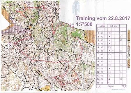 Clubtraining OLG Chur August Nd Orienteering Map From - Chur map