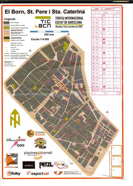 El Born Barcelona Mapa.El Born Tic Barcelona November 3rd 2012 Orienteering