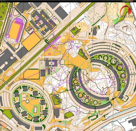 196c7dc63e16 Sprint DM Stockholm rerun - July 4th 2019 - Orienteering Map from ...