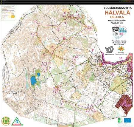 Jukola 2018 5 Osuus June 17th 2018 Orienteering Map From