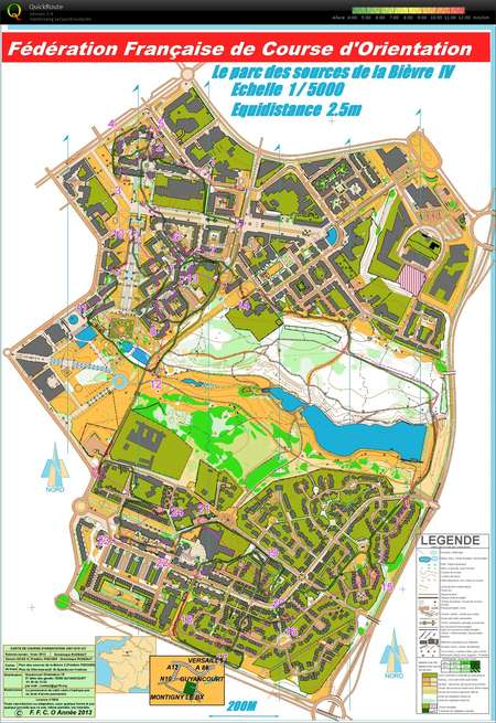 Sprint O En Serie March 23rd 2016 Orienteering Map From Pascal Pannier