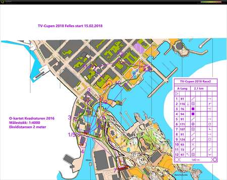 Tv Cup 2 Del 1 February 15th 2018 Orienteering Map From