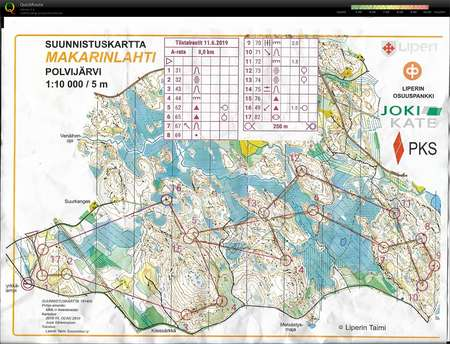 Huhmarin Iltarastit June 11th 2019 Orienteering Map From
