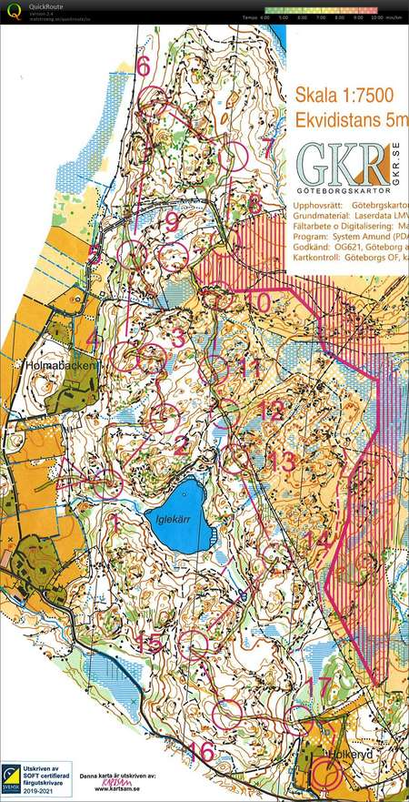 Goteborg O Meeting E1 August 23rd 2019 Orienteering Map From