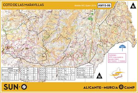 Suno Campus Map.Murcia Permanent Camp April 3rd 2015 Orienteering Map From Sun O