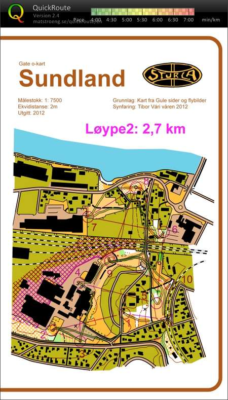 Gate O March 29th 2012 Orienteering Map From Tibor Vari