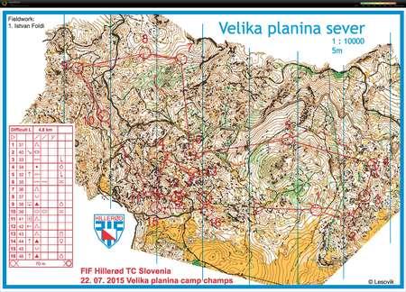 FIF Hillerod TK July 22nd 2015 Orienteering Map from Boris Bauman