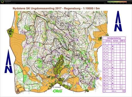Regensburg Veivalg October Nd Orienteering Map From Isak - Regensburg map