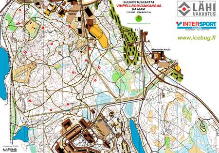 Ks Iltarastiit Vimpeli August 4th 2009 Orienteering Map From