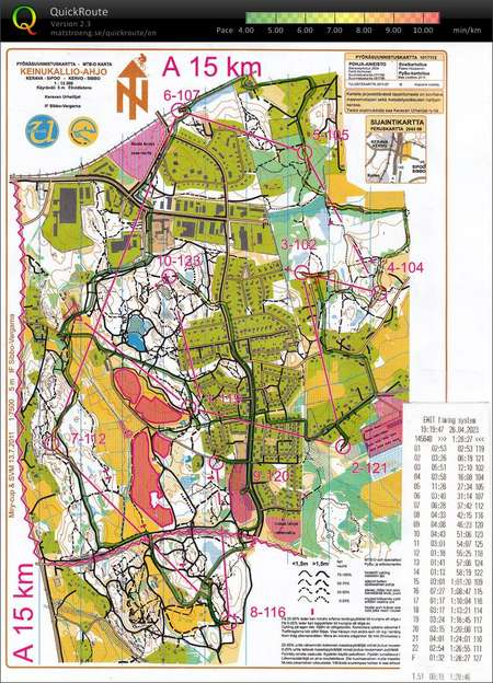 Miry Cup Kerava Kartta 1 July 13th 2011 Orienteering Map