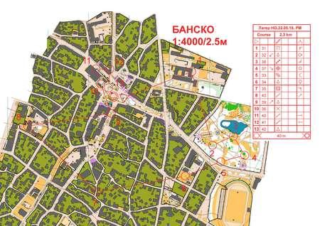 Bansko May 22nd 2019 Orienteering Map From Loggator