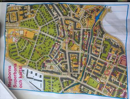 Karta Zinkgruvan.Regborns Superbana April 21st 2016 Orienteering Map From Maria